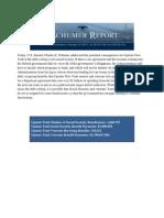 Sen. Charles Schumer Report