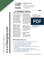 FDA CGMP Checklists