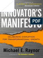 The Innovator's Manifesto by Michael E. Raynor - Excerpt