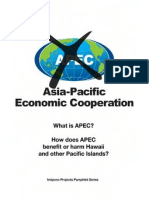 How Does APEC Benefit or Harm Hawaii and Pacific Islands2