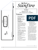 Sun Fire Two Product Sheet