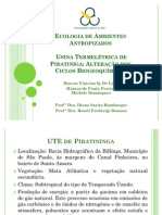 Apresentação Ecologia de Ambientes Antropizados