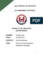Filtros Activos Pasa Banda, Pasa Altos y Pasa Bajos