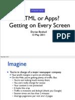 HTML vs Apps