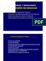 Seguriad & Ergonomia En El Diseño De Maquinas
