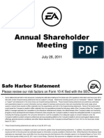 Electronic Arts Annual Shareholder Meeting Presentation July 2011