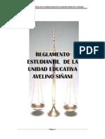 REGLAMENTO ESTUDIANTIL DE LA UNIDAD EDUCATIVA AVELINO SIÑANI FE Y ALEGRIA