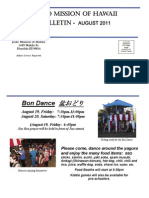 Jodo Mission Monthly Bulletin - August 2011