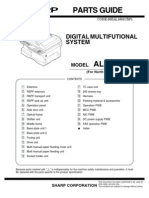 Service Parts List Sharp AL-1661cs