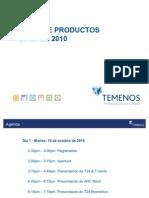 TEMENOS Product Forum 2010 Agenda