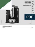 Jura Impressa e60 e65 User Manual