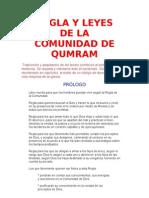 Regla y Leyes de La Comunidad de Qumram