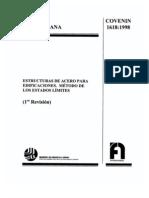 Norma COVENIN Estructuras de Acero 1618-1998