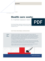 Healthcare Costs a Market Based View