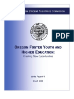 OREGON FOSTER YOUTH AND HIGHER EDUCATION