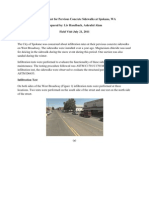 Infiltration Test July 22 2011