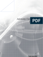 Autonomy User Experience White Paper