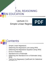 100310PLG500 L11-Simple Linear Regression