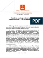 PSD - Comunicat de Presa - Deputat Carmen Moldovan - 14.07