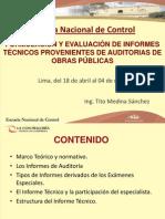 FOFORMULACIÓN Y EVALUACIÓN DE INFORMES TÉCNICOS PROVENIENTES DE AUDITORIAS DE OBRAS PÚBLICAS