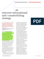 Developing an International Anti Conterfeiting Strategy