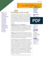 Analysis of IIT JEE