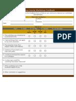 23 Sample Workshop Feedback Form