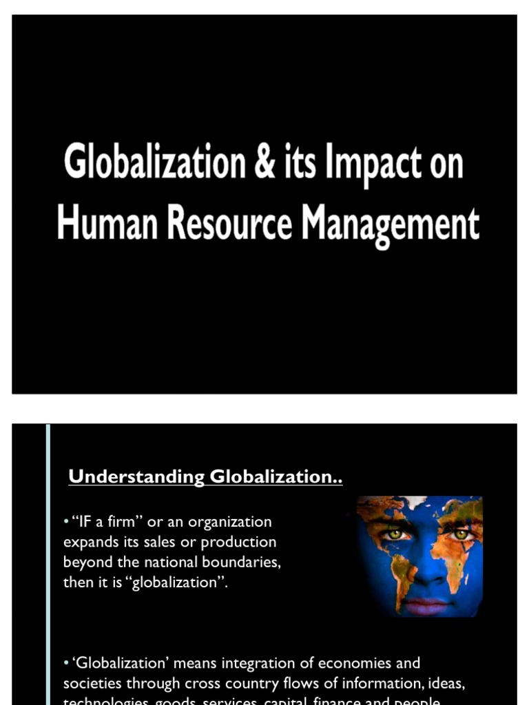 globaliztion and its effects essay
