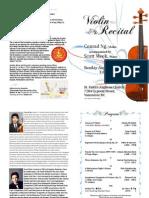 Conrad Ng - Violin Concert Program