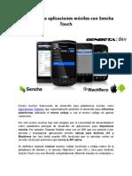 Construyendo aplicaciones móviles con Sencha Touch