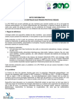 Position LPO PACA  photovoltaïque