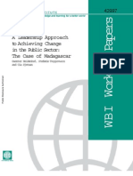 A Leadership Approach to Achieving Change in the Public Sector