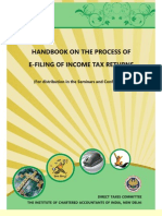Handbook on the Process of E Filing of Income Tax Return for Assessment Year 2011 2012