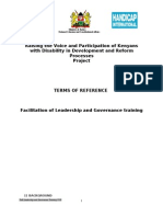 ToR Leadership and Governance Training 0711