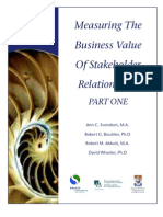Measuring the Business Value of Stakeholder