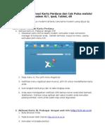 Info Cara Mudah Aktivasi Dan Cek Pulsa Melalui Modem iPad Tablet