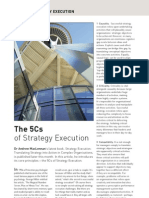 The 5Cs of Strategy Execution