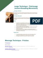 Massage Technique Petrissage
