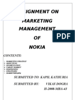 22208165 Assignment of Mkt on Nokia