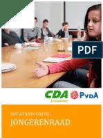 Jongerenraad Initiatiefvoorstel CDA PvdA