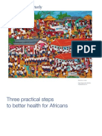 Three Practical Steps for Better Health for Africans