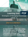 LU5 - Strategies of Managing Knowledge