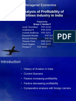 Group 2 - Analysis of Profitability of Airlines Industry in India