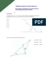 TESTES 8ª SÉRIE ENSINO FUNDAMENTAL