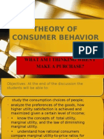 Lesson 10-Theory of Consumer's Behavior