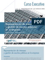 """Curso de """"Representación de intereses y gestión de asuntos públicos en la empresa"""""""
