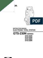 MENUAL OF GTS 230N