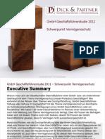 GmbH Geschäftsführerstudie 2011 Vermögensschutz