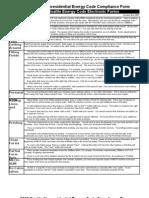 Seattle Energy Code Worksheet