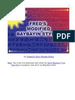 Fred's Modified Baybayin Styles